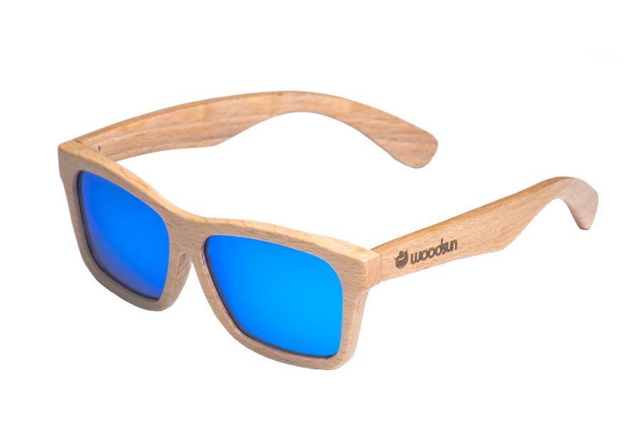 76767883ce Gafas de sol de madera Natural de Beech & Blue lens