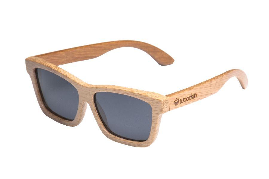 4438dd4a61 Gafas de sol de madera Natural Carbonized de Bambú & Black lens con el  precio mas