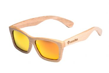 Gafas de sol de madera Natural de Beech  & Orange  lens