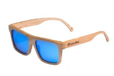 db9fbd46bb Gafas de sol de madera Natural de Beech & Blue lens