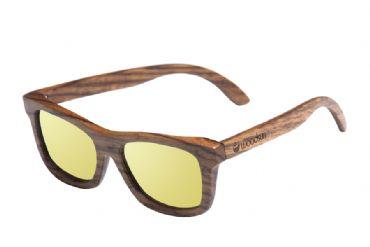 c8439ee79d Gafas de sol de madera Natural de Zebra & Yellow lens