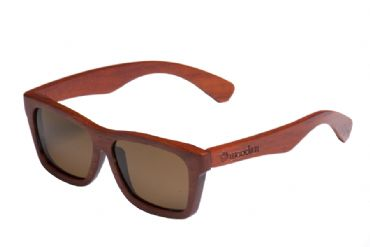 Gafas de sol de madera Natural de Rose  & Brown lens