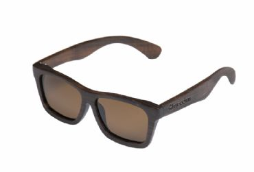 Gafas de sol de madera Natural Painted de ebony  & Brown  lens